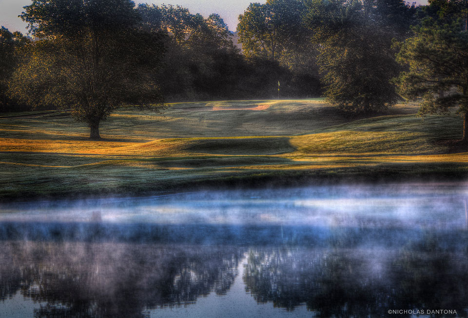 View of a pond on the course at Nashville Golf & Athletic Club